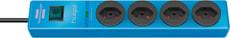 Steckdosenleiste hugo! 4fach blau