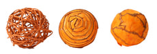 Deco-Ball orange, D6cm, 3Stk.