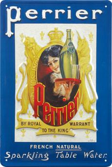 Werbe-Blechschild Perrier
