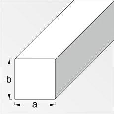 Plain carré 4 x 4 mm acier étiré 1 m