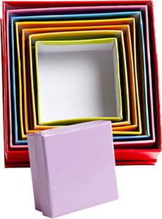 Pappmaché Schachteln quadrat
