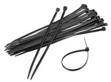 Serre-câbles, noir 100 pieces