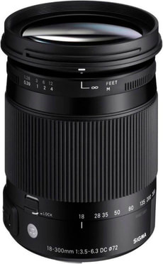 18-300mm f/3.5-6.3 DC MA OS HSM Objektiv zu Canon