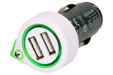 Q2Power Dual USB Car Charger with Micro USB Cable