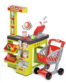 Supermercato con il carrello