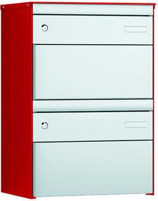2er Briefkasten S:13 RAL 3000/9006