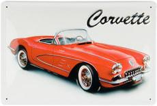 Werbe-Blechschild Corvette