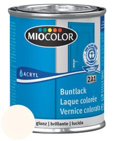 Acryl Buntlack glanz Cremeweiss 125 ml
