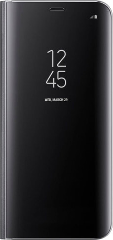 Clear View Standing Cover S8+ nero