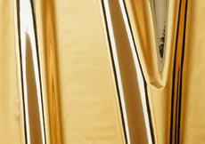 Feuilles autocollantes de décoration brillantes, or métallisé