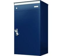 Briefkasten mit Paketschliessfach s:box17 Saphirblau/Blau