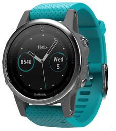 GPS Fenix 5S - argent/turquois