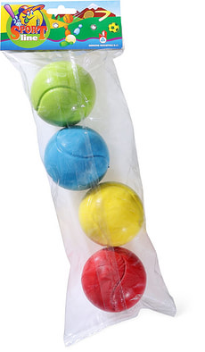 Soft-Tennisbälle, 4 Stk.