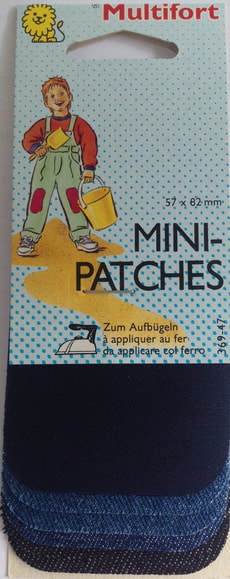Min-Patches aufbügelbar uni 8 Stk.