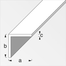 Cornière isocèle 1.5 x 20 x 20 mm PVC blanc 1 m