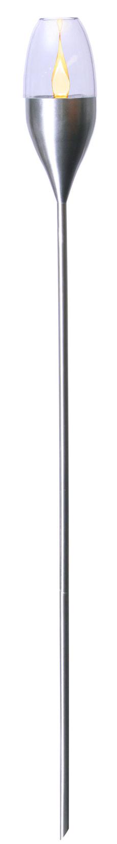 LED Solarlampe Fackel Edelstahl