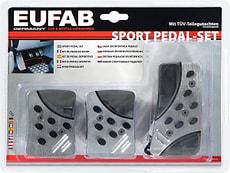 Set di pedali sportivi alu/ opaco