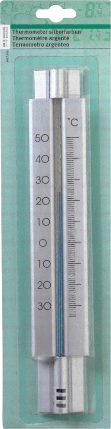 Thermometer silberfarben