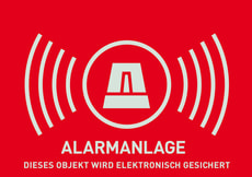 Warnaufkleber Alarm (deutsch)
