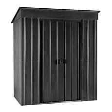 Metall-Geräteschrank 6x3 schwarz-grau
