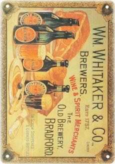 Werbe-Blechschild Whitaker & Co.