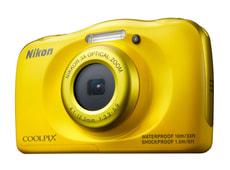 Coolpix S33 Kompaktkamera gelb