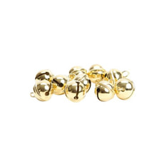 Glöckchen Metall gold 11mm 10 Stk.