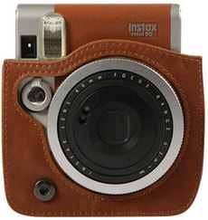 Instax Mini 90 Leather Case Brown