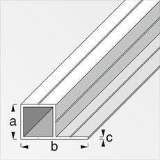 Quadratrohr 1 Schenkel 19.5 x 37.5 mm blank 1 m