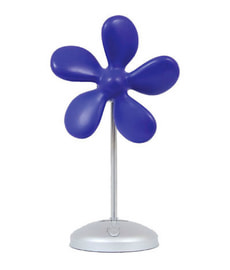 ventilatore da tavolo Flower Fan blu