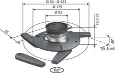 Vogels EPC-6545 Beamer Deckenhalterung