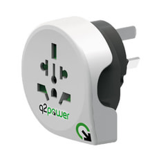 Q2Power Adaptateur du monde à Australie/Chine