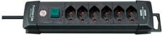 Steckdosenleiste Premium-Line  6fach schwarz