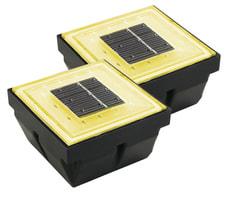 LAMPE SOLAIRE LED BURGOS SET 2 PCS JAUNE