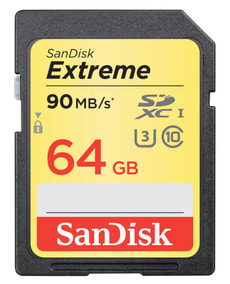 Extreme 90MB/s 64GB SDXC-Carte mémoire