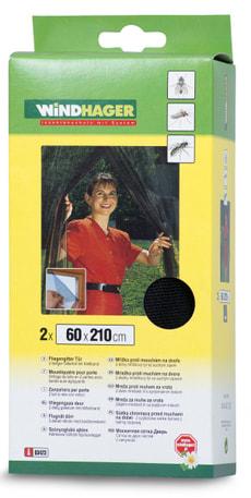 Fliegengitter für Tür anthrazit 2x(60x210)cm