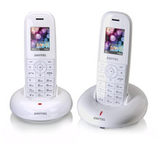 DF 1202 white duo Schnurloses Telefon