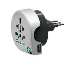 Q2Power Adaptateur du monde à Italie avec USB