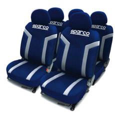Sitzbezug blau/silber