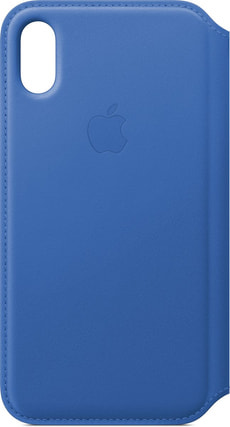 Leather Folio iPhone X Electric Blue