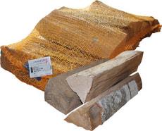 Bois de chauffage mélangé, 12 kg en sac