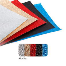 Glitterpapier-Set