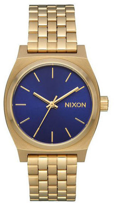 Medium Time Teller Gold Indigo 31 mm