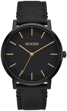 Porter Leather All Black Gold 40 mm
