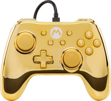 Chrome Controller Gold Mario