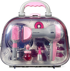Valigia parrucchiere con fon e accessori