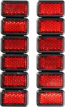 Rückstrahler rot 12 Stück