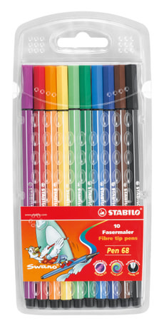 Premium-Fasermaler STABILO® Pen 68, 10 Farben