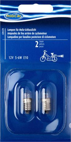 Ampoule 5-6W E10, Feu arrière cyclomoteur