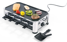 Appareil à raclette/gril pour 8